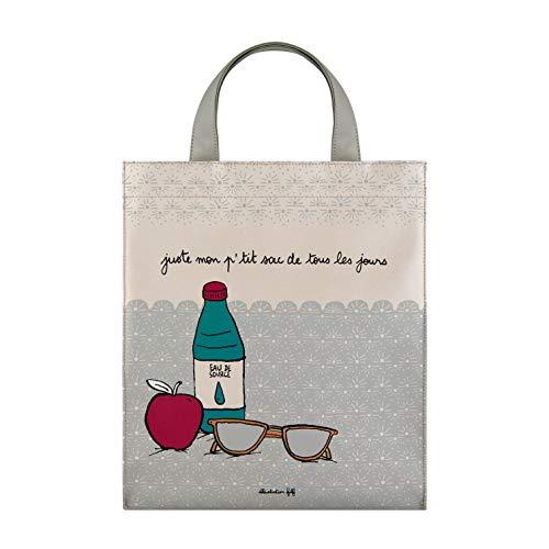 DLP, - Bolso de mano, diseño con texto en inglés Mis ptit, multicolor