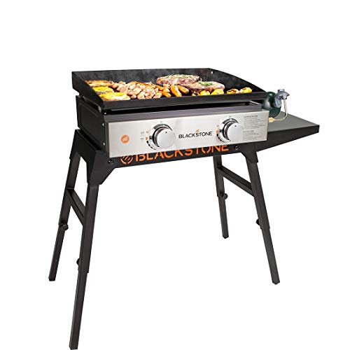 """Blackstone 22"""" Gas Tabletop Griddle with Carry Bag and Leg Stand Gas Grills Natural"""