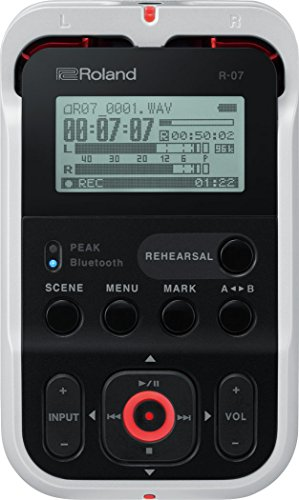 Roland R-07 High-Resolution Handheld Audio Recorder, White