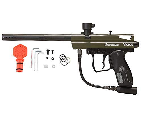 Spyder Victor Semi-Auto Paintball Marker with Extended Warranty (Matte Olive)