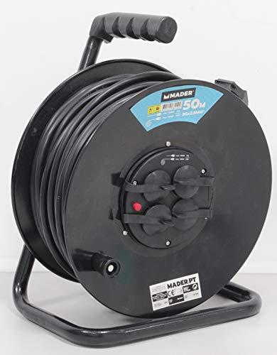 Mader Home Tools 68019 Verlängerungskabel mit Rolle 50 mx 2,5 mm2-68019
