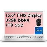 2021 Flagship Dell Inspiron 15 5000 Laptop Computer 15.6' Full HD Display 11th Gen Intel Quad-Core i7-1165G7 32GB DDR4 1TB SSD MaxxAudio Backlit Webcam HDMI WiFi USB-C Win 10 (Renewed)