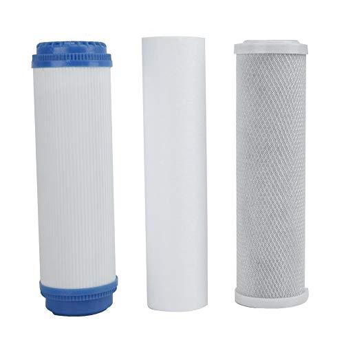 Mumusuki Reemplazo de Cartucho de Filtro de osmosis inversa Universal de Tres etapas para purificacion de Agua domestica
