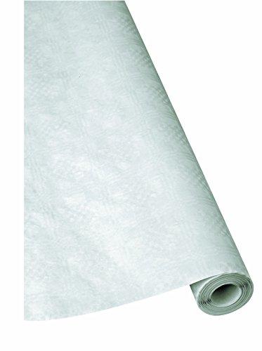 1Rollo de Damasco–Mesa paño blanco 1m x 50m Papel Mantel Mantel, Mantel de papel, desechables mesa paño, desechable mantel, Jardín, mesa Escobillero, carpa