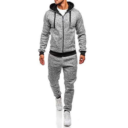 Sannysis Herren Jogging Anzug Trainingsanzug Sweatshirt Hose Herbst und Winter Langärmelige Kapuzenpulli Hosenanzug Kapuzenjacke