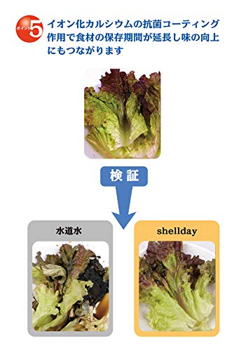 シェルデイ野菜洗剤野菜の内側まで除菌洗浄純度を高めたイオン化カルシウム野菜果物洗浄150g【約150回分】1回3振りカルシウムコーティング