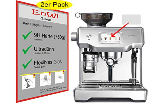 EnWi | 2X Panzer-Glas-Folie 9H Display-Schutz-Folie für Sage Appliances SES990 Espresso-Maschine