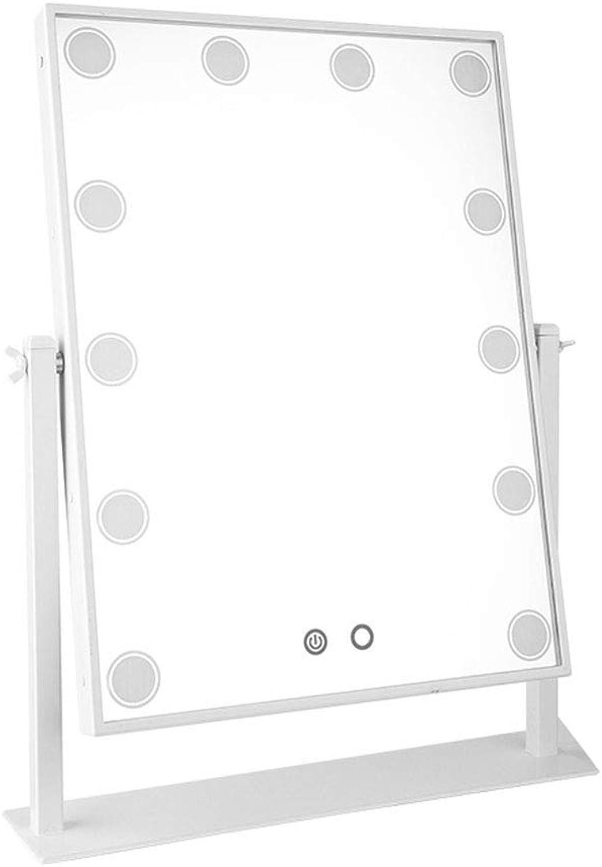 12 Bulb Mirror Desktop Princess Mirror Dimming Illuminator Beauty Fill Light,White (color   -, Size   -)