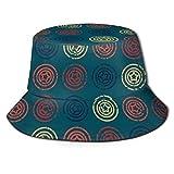 Stars in Circles Sombrero de Pescador Sombrero de Pescador Sombrero de Sol UV para Mujeres y Hombres