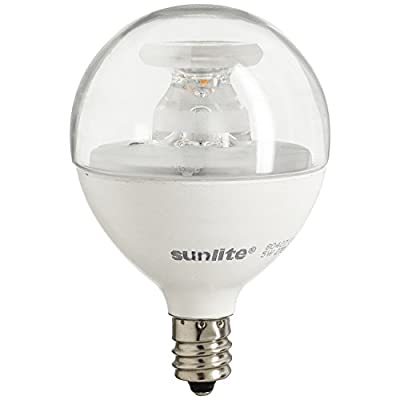 Sunlite LED Globe 40W Equivalent (Only Uses 5 Watts!) Dimmable Frost G16.5 Bulb