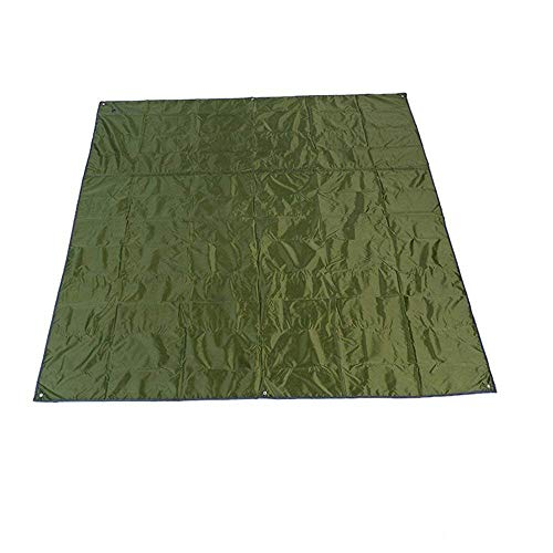 Rayami - Lona impermeable, 215 x 215 cm, para usar al aire libre, multifuncional, barrera de humedad, con bolsa de transporte con cordón, verde