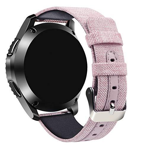 Tarask Armband kompatibel mit Huawei Watch 2 Classic/Pro/Watch GT/Honor Watch Magic, Leinwand Replacement Uhrenarmband Sportarmband Band Erstatzband mit Schließe (22mm, Mehrfarbig 34)