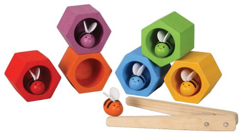 Product Image of the PlanToys Wooden Beehives Sorting Game (4125) | Sustainably Made from Rubberwood...