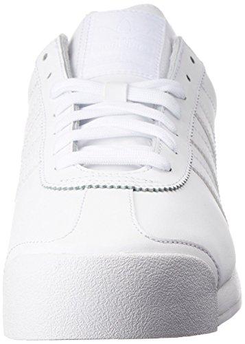 adidas Originals Men's Samoa Retro Sneaker Running Shoe, White/Light Grey, (12 M US)