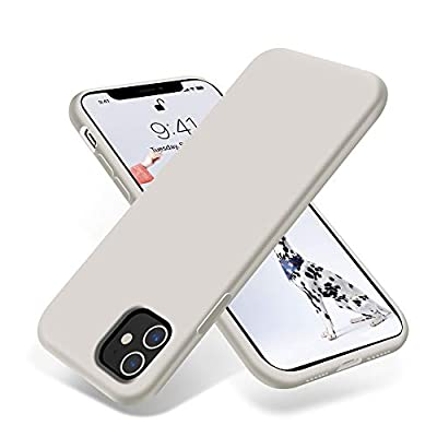 OTOFLY iPhone 11 Case,Ultra Slim Fit iPhone Case Liquid Silicone Gel Cover with Full Body Protection Anti-Scratch Shockproof Case Compatible with iPhone 11 (White Stone)