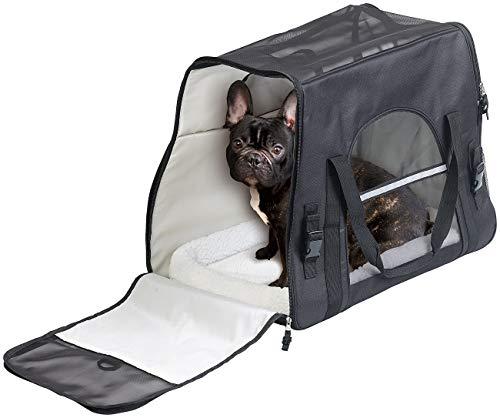Sweetypet Katzen Transporttasche: Hand- & Auto-Transporttasche für Haustiere bis 15 kg, Größe L, schwarz (Hundetransporttasche)