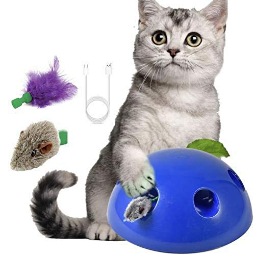 Brandnews Kattenspeelgoed met muis-chaser, dierspeelgoed, speelgoed, elektrisch, automatisch, 360 graden tease, kattenspeelgoed voor katten en honden