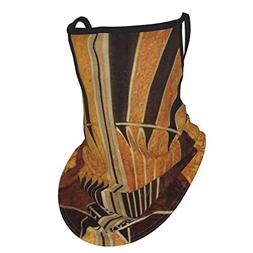 asdew987 Art Nouveau - Bufanda para cuello de seda y hielo, color negro, bronce, plata, beige, para hombres y mujeres