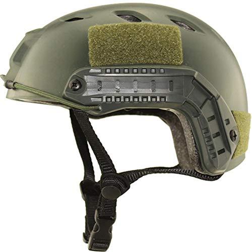 Ridecyle Heilsa Fast Tactical Helm, Airsoft Helmüberzug Einstellbar CS Cosplay Helm für Airsoft Tactical CS Spiel Dschungel-Abenteuer