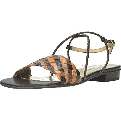 KESS Damen Sandalen Sandaletten 5216P Braun 39 EU