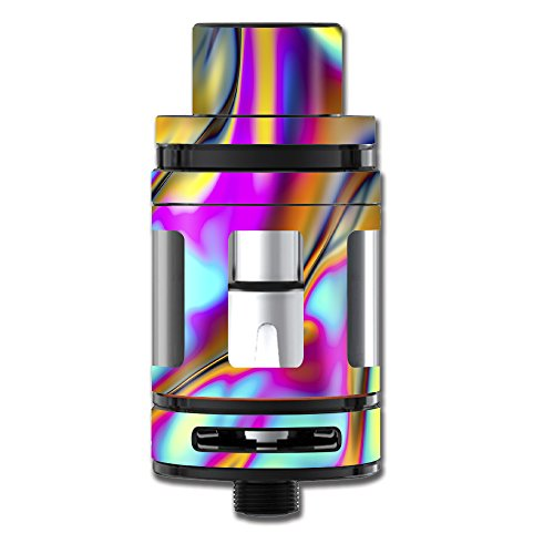 Skin Decal Vinyl Wrap for Smok TFV8 Big Baby Beast Tank Vape Stickers Skins Cover/Oil Slick Resin Iridium Glass Colors