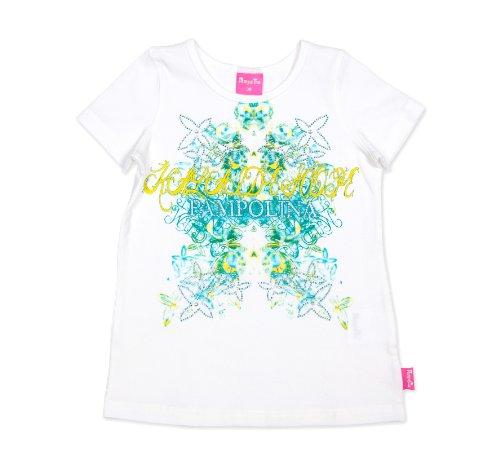 Pampolina Baby - Mädchen T-Shirt, All over Druck S2122414, Gr. 110, Weiß (1050)