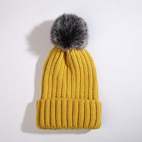 CSXM Pencil case Sombrero de Invierno Sombrero Gorro de otoño e Invierno Gorro de Punto cálido para Mujer Se Aplica al Viaje de Pesca de esquí en Motocicleta y More-Yellow_One_Size