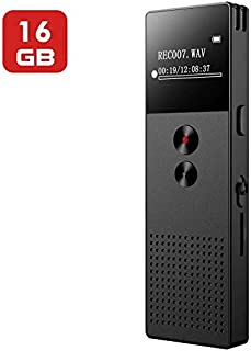 Digital Voice Recorder, 16GB Digital Voice Recorder for Lecture, Audio Voice Recorder with MP3 Player, Voice Activated Recorder, with Rechargeable Stereo HD Recording Voice