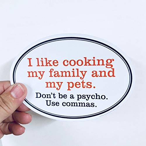 H421ld Pegatina de vinilo I like cooking my family and pets