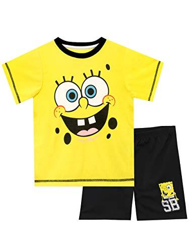 Spongebob Schwammkopf Jungen Sponge Bob Squarepants Schlafanzug Mehrfarbig 152