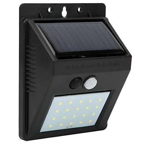 Naroote Solarbetriebene wasserdichte 20-LED-Solarwandleuchte, kabellose Wandleuchte, für Garten-Haustüren im Freien