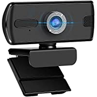 FFGY USB Plug and Play 1080P Webcam with Microphone