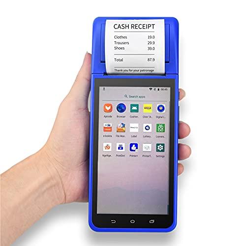 Topuality Handheld PDA Smart POS Receipt Terminal Printer Android 8.1 con cámara con pantalla táctil de 5.5 pulgadas Escáner de código de barras 1D 2D Soporte 3G / WiFi/BT/GPS para restaurantes