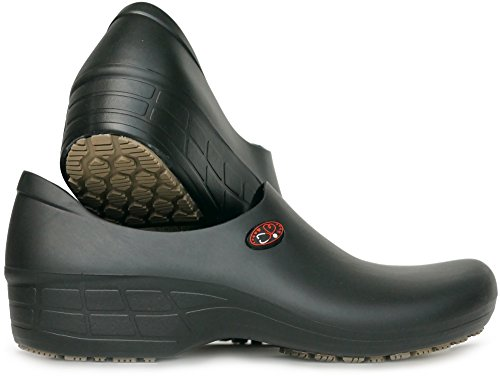 Women's Printed Waterproof Non Slip Work Shoes - Nursing Shoes - KEEPNURSING (9, Black - Stetho Love)