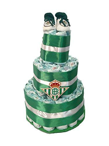 Tarta de pañales DODOT Real Betis balompie