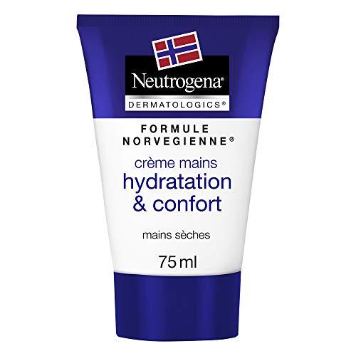 Neutrogena Crème Mains Hydratation & Confort, Formule Norvégienne, 75 ml, Lot de 2