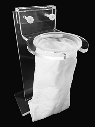 4' Pre Sump Filter Sock Holder(Mount) and Free Filter Socks 200 Micron - 4 Inch Ring by 14 Inch Long -Aquarium Felt Filter Bags for Aquarium Reef Tank Micron Bag