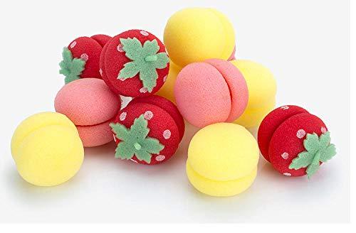 Bola de rizado de esponja portátil, rizador de cabello para damas, herramienta de rizado de estilo DIY, 3 bolas amarillas y rosadas cada una