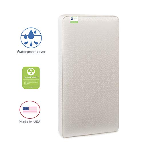 "Sealy Baby Flex Cool 2-Stage Airy Dual Firmness Waterproof Standard Toddler & Baby Crib Mattress, 51.7""x 27.3'"