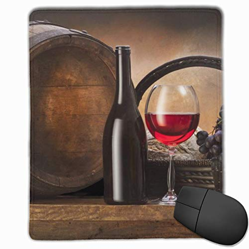 Glattes Mauspad, Flasche Rotwein Mobile Gaming Mousepad Work Mouse Pad Büropad