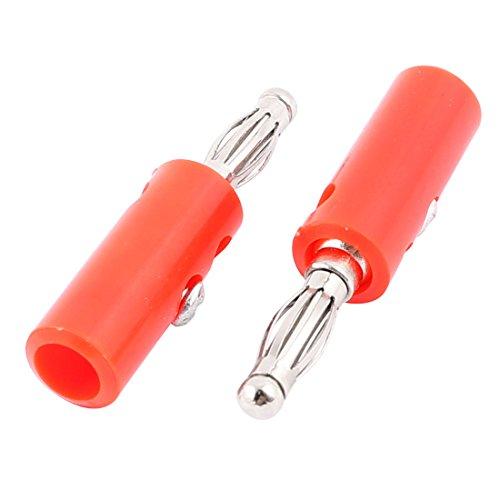 Aexit 2 Stücke Rot 4mm Draht Kabel Audio Banana Stecker für Lautsprecher Verstärker Binding Post Test Sonden (4d2f6185dcc96be76e9f191ed0cadad2)