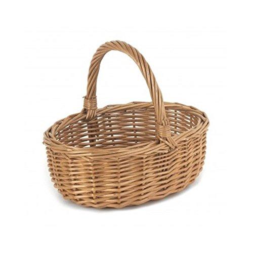 Red Hamper Mini Double Steamed Wicker Shopping Basket