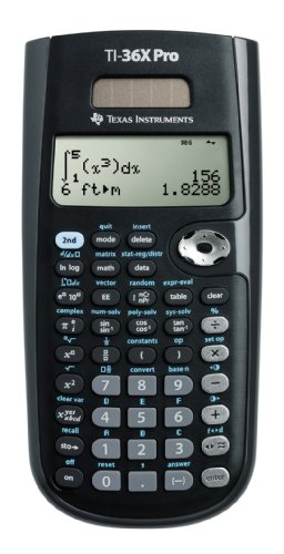 Texas Instruments TEX-TI36XPRO Calculatrice Scientifique Noir