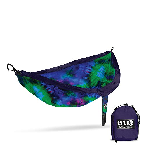 ENO, Eagles Nest Outfitters DoubleNest Print Lightweight Camping Hammock, 1 to 2 Person, Tie Dye V2