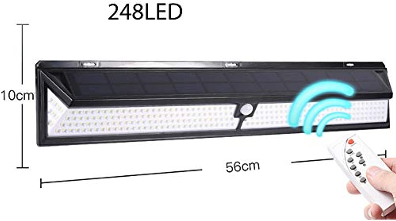 LGF Helmet Sichere und langlebige LED-Solarwandleuchte Lange Lebensdauer 65 wasserdicht und regenfest blenden Beleuchtungsensor mit Fernbedienung Wandleuchte,248LED