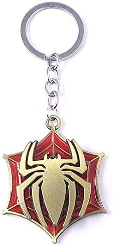 AOAOTOTQ Co.,ltd Collar Martillo Escudo hexágono Estrella araña Colgante Collar Mujeres Hombres Adornos Hip Pop Colgante Collar para Mujeres Hombres