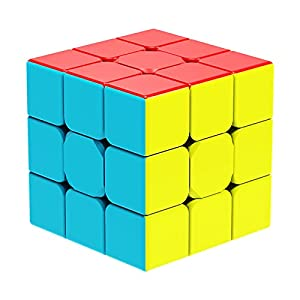 YCBABY Qiyi Warrior W Speed Cube 3x3- Stickerless Magic Cube 3x3x3 Puzzles Toys (56mm), The Most Educational Toy to Effectively Improve Your Child's Concentration, responsiveness and Memory from Qiyi Cube