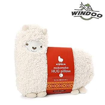 Aunt Merry Mokomoko Llama Alpaca Hug Pillow Cushion Doll  beige