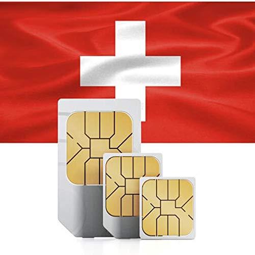 travSIM - Tarjeta SIM Prepaga Suiza(SIM de Datos para-Suiza) - 3GB de Datos Móviles para Usar en Suiza Válido por 30 Días - la Tarjeta SIM de Datos de Suiza Funciona en más de 65 Países Suiza