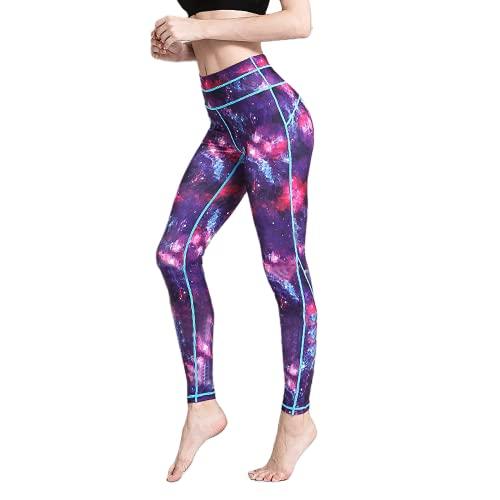 QTJY Pantalones de Yoga elásticos y de Secado rápido para Mujer Pantalones de Ejercicio Push-up para Gimnasio Pantalones para Correr de Cadera de Cintura Alta al Aire Libre C L